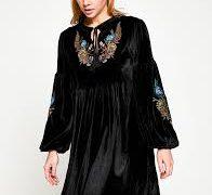kadife elbise 196x180 - 2018 Trendi Kadifeyle En Güzel Kombin Önerileri