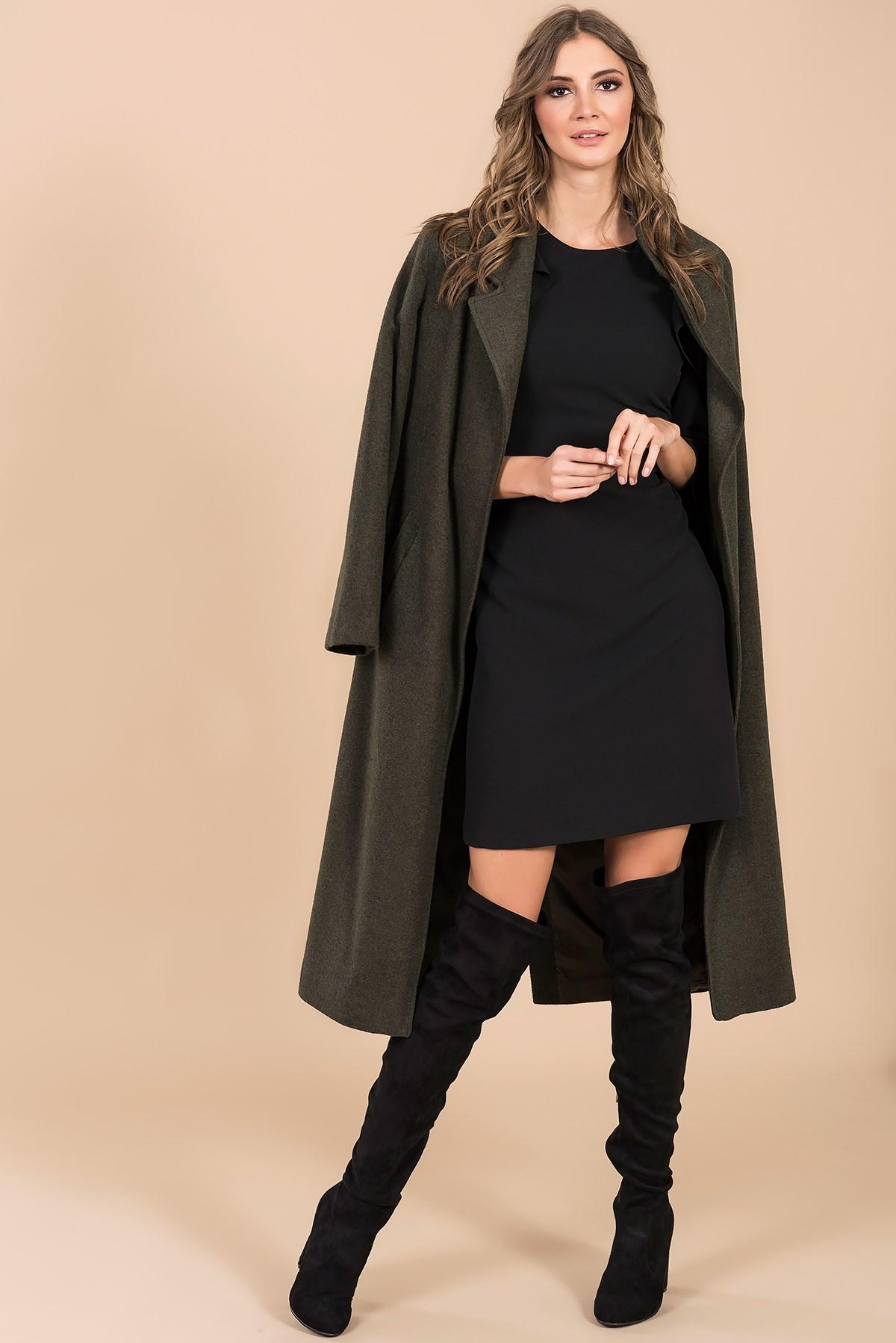 Siyah Etek Haki Palto